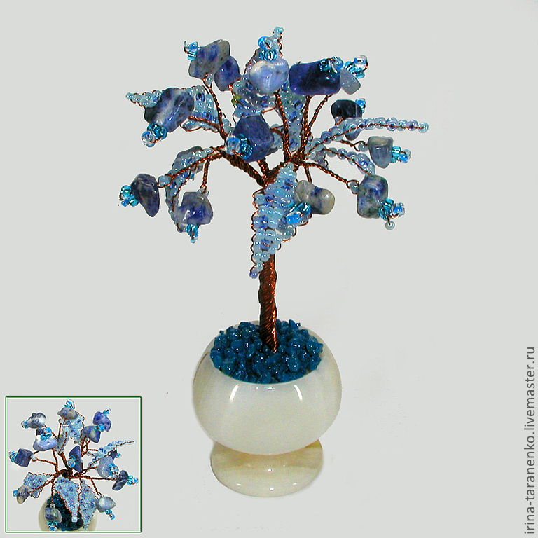 Miniature tree of happiness from lazarote in a vase of onyx