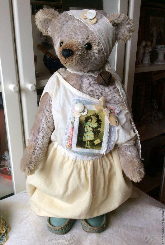 """Мишки Тедди ручной работы. Ярмарка Мастеров - ручная работа. Купить Большая мишка """"Берта""""50см. Handmade. Серый, большой медведь"""