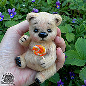 Куклы и игрушки ручной работы. Ярмарка Мастеров - ручная работа Медвежонок Теодор. Карманный мишка тедди. Handmade.