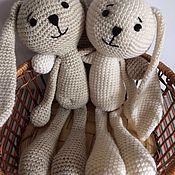 Куклы и игрушки ручной работы. Ярмарка Мастеров - ручная работа Зайцы-Ушастики. Handmade.