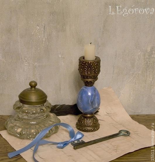 """Подсвечники ручной работы. Ярмарка Мастеров - ручная работа. Купить """"Подсвечник с камнем"""". Handmade. Разноцветный, подарок женщине, имитация камня"""