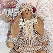 Куклы и игрушки ручной работы. Ярмарка Мастеров - ручная работа Кофейно-коричная винтажная зайка.. Handmade.