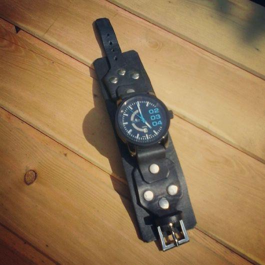 Часы ручной работы. Ярмарка Мастеров - ручная работа. Купить Ремешок для часов кожаный. Handmade. Ремешок для часов, кожа
