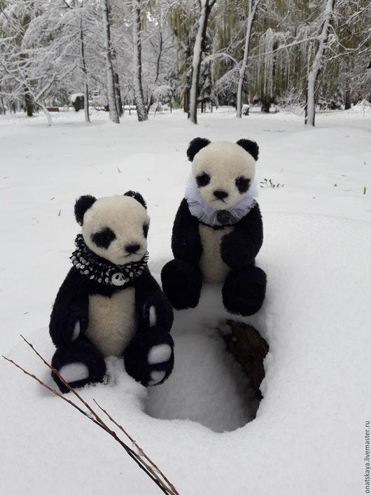 Мишки Тедди ручной работы. Ярмарка Мастеров - ручная работа. Купить Панда ручной работы. Handmade. Черный, панда тедди