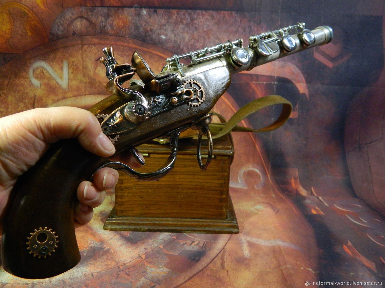 'FLUTE GUN' steampunk style gun', Subculture Attributes, Saratov,  Фото №1