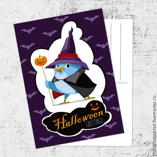 Открытки на все случаи жизни ручной работы. Ярмарка Мастеров - ручная работа. Купить Почтовая открытка «Пэр в Хеллоуин». Handmade. хелоуин