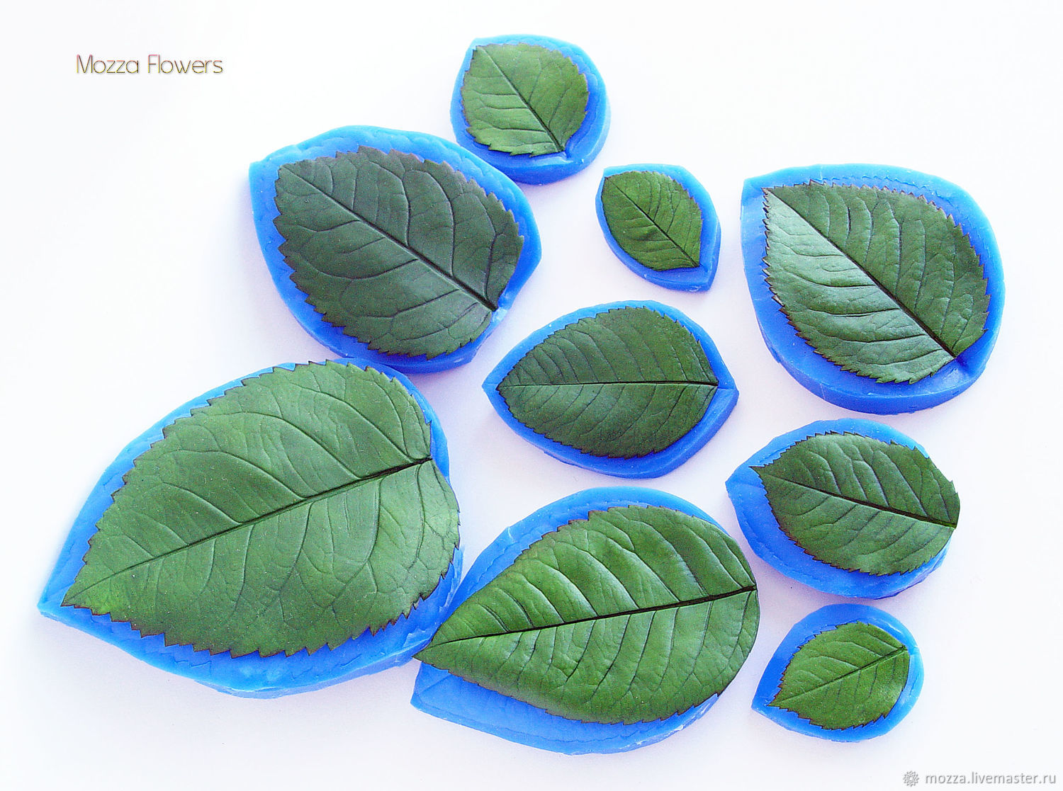 'Rose leaf NEW ' silicone mold, Molds for making flowers, Zarechny,  Фото №1