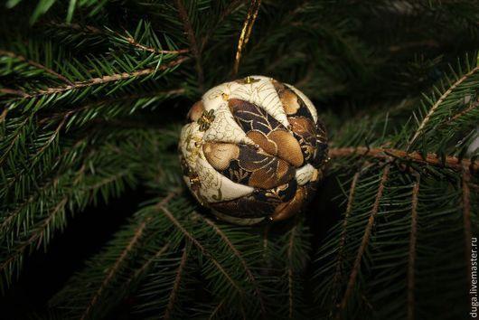 Новый год 2017 ручной работы. Ярмарка Мастеров - ручная работа. Купить Новогодний шар  «Кари»  № 315. Handmade. Коричневый