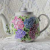 Посуда handmade. Livemaster - original item Teapot with painting
