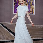 Свадебный салон handmade. Livemaster - original item Top and skirt made of natural silk. Handmade.