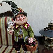 Куклы и игрушки handmade. Livemaster - original item Gnome in the forest for berries. Handmade.