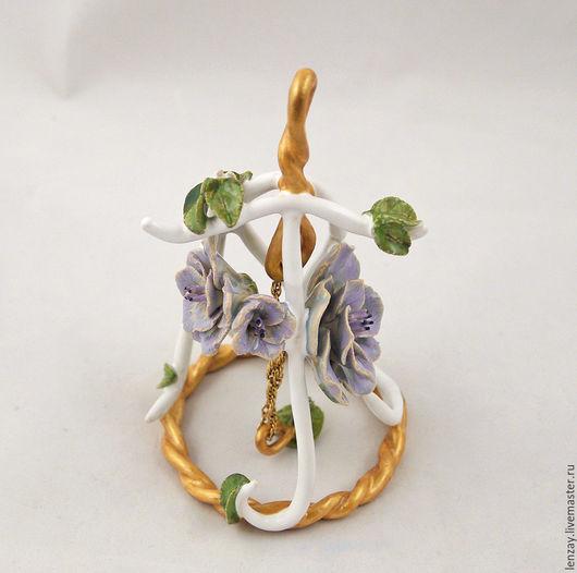 Колокольчик Инициалы. Ажурная керамика и керамические цветы Елены Зайченко