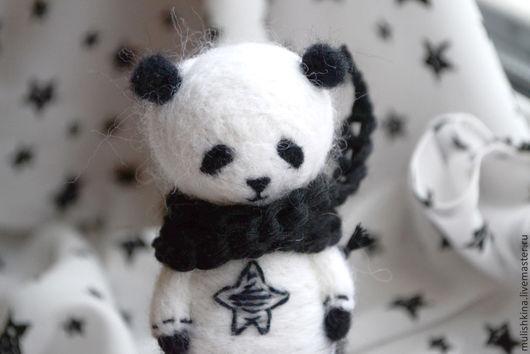 Игрушки животные, ручной работы. Ярмарка Мастеров - ручная работа. Купить Валяная игрушка из шерсти Панда. Handmade. Черный, животные
