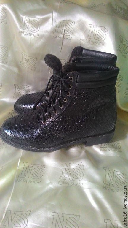 Обувь ручной работы. Ярмарка Мастеров - ручная работа. Купить Ботинки мужские.Зимние. Handmade. Черный, ботинки мужские
