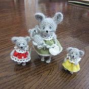 Куклы и игрушки ручной работы. Ярмарка Мастеров - ручная работа Малюсенькие мышки 3-4 см. Handmade.