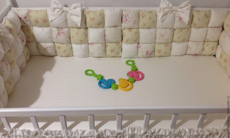 Из чего сшить бортики для детской кроватки своими руками 668