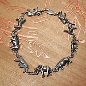"""Украшения ручной работы. Ярмарка Мастеров - ручная работа Браслет """"My Africa"""" серебро 925. Handmade."""