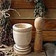 Кухня ручной работы. Деревянная ступка с пестиком.. Golden LES-магия деревянной резьбы (goldenles). Интернет-магазин Ярмарка Мастеров.