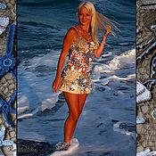 """Одежда ручной работы. Ярмарка Мастеров - ручная работа Топ """"Море"""". Handmade."""