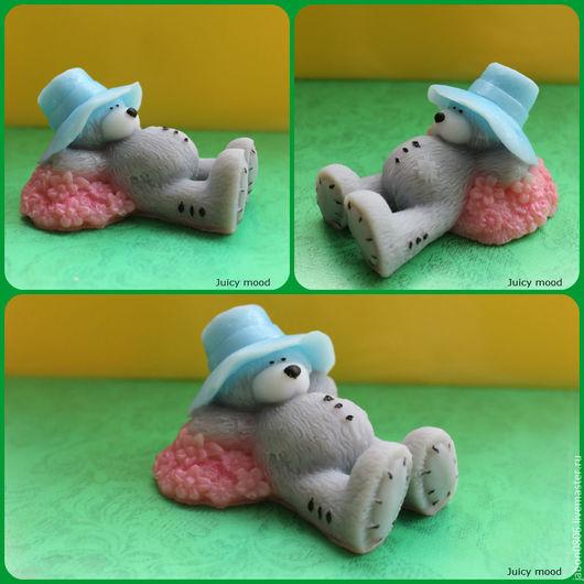 """Мыло ручной работы. Ярмарка Мастеров - ручная работа. Купить Мыло """"Мишка на полянке"""". Handmade. Разноцветный, уход за телом"""