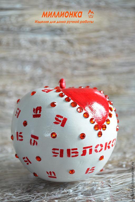 """Статуэтки ручной работы. Ярмарка Мастеров - ручная работа. Купить Яблоки из серии """" Красные узоры"""". Handmade. Ярко-красный"""