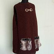 Одежда handmade. Livemaster - original item Brown vest with pockets of laughter