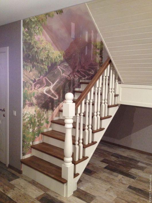 Элементы интерьера ручной работы. Ярмарка Мастеров - ручная работа. Купить 123. Лестница. Handmade. Лестница прованс, состаренная лестница