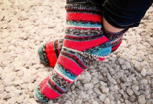"""Носки, Чулки ручной работы. Ярмарка Мастеров - ручная работа. Купить Носочки """"Море на закате"""". Handmade. Носочки, тонкие носочки"""