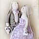 """Куклы Тильды ручной работы. Ярмарка Мастеров - ручная работа. Купить Свадебная пара Заек """"Когда два сердца бьются вместе"""". Handmade."""