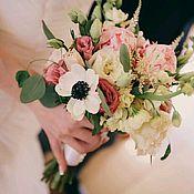 Цветы и флористика ручной работы. Ярмарка Мастеров - ручная работа Букет для невесты из живых цветов. Handmade.