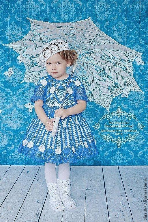 """Одежда для девочек, ручной работы. Ярмарка Мастеров - ручная работа. Купить Платье """"Василек"""". Handmade. Синий, платье для девочки"""