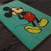 Дизайн и реклама ручной работы. Ярмарка Мастеров - ручная работа Интерьерная вывеска Микки Маус Ретро. Handmade.