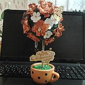 Цветы и флористика ручной работы. Ярмарка Мастеров - ручная работа Цветочное дерево. Весеннее настроение. Handmade.