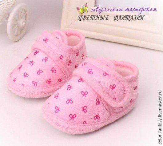 """Куклы и игрушки ручной работы. Ярмарка Мастеров - ручная работа. Купить Туфельки для куклы """"Розовые бантики"""". Handmade. Обувь"""