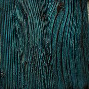 Сувениры и подарки handmade. Livemaster - original item Turquoise potion of wood. Textured potion. Wall panel Loft.. Handmade.