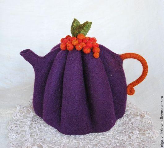 Кухня ручной работы. Ярмарка Мастеров - ручная работа. Купить Грелка для чайника Фруктово-ягодный чай.. Handmade. Тёмно-фиолетовый
