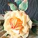 """Цветы ручной работы. Роза из шелка """"Amore mio"""". Михеева (Лядова ) Ирина (mikha207). Интернет-магазин Ярмарка Мастеров."""