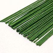 Материалы для творчества handmade. Livemaster - original item Paper Covered Floral wire Stems, Gauge 28 (0.3mm), Green. Handmade.