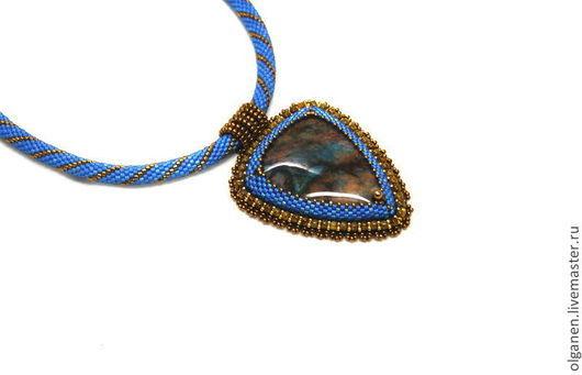 """Кулоны, подвески ручной работы. Ярмарка Мастеров - ручная работа. Купить Кулон """"Тропический"""". Handmade. Бронзовый, сине-голубой"""