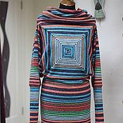 Одежда ручной работы. Ярмарка Мастеров - ручная работа Платье  Magic square. Handmade.