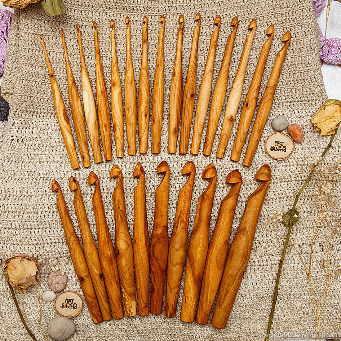 A set of wooden crochet hooks 25 PCs (3-20#7, Crochet Hooks, Novokuznetsk,  Фото №1