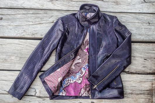 Верхняя одежда ручной работы. Ярмарка Мастеров - ручная работа. Купить Женская куртка из натруальной кожи питона. СКИДКА 2000 руб.. Handmade.