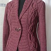 Одежда handmade. Livemaster - original item Jacket knitted women`s tweed Cherry marmalade. Handmade.