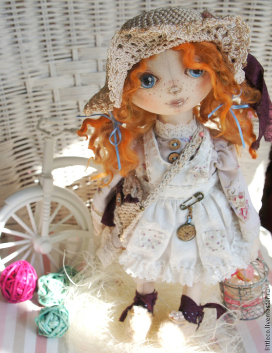 """Куклы тыквоголовки ручной работы. Ярмарка Мастеров - ручная работа. Купить тыквоголовка """"В ожидании чуда"""". Handmade. Бежевый, куклы"""
