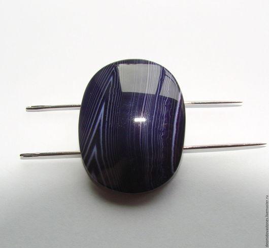 Для украшений ручной работы. Ярмарка Мастеров - ручная работа. Купить Агат, камни для украшений, овал 01, фиолетовый, 38х 30 х 9 мм. Handmade.