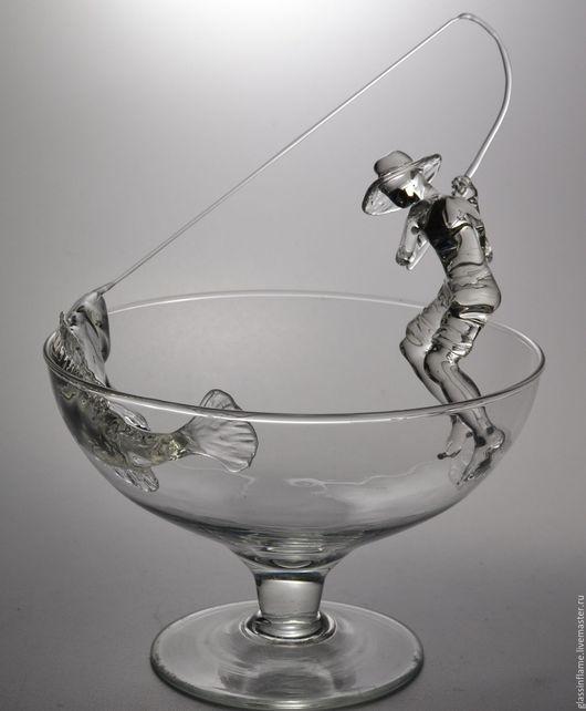 Статуэтки ручной работы. Ярмарка Мастеров - ручная работа. Купить Удачная рыбалка. Handmade. Рыбалка, авторский лэмпворк