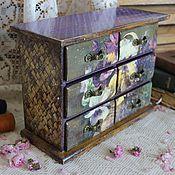 """Для дома и интерьера ручной работы. Ярмарка Мастеров - ручная работа Комодик """" First violets"""". Handmade."""