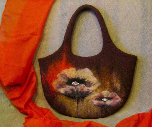 """Женские сумки ручной работы. Ярмарка Мастеров - ручная работа. Купить Валяная сумка """"После дождя"""". Handmade. Валяная сумка"""