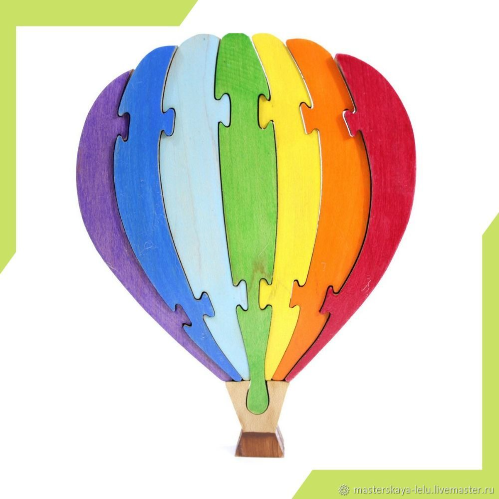 Пазл деревянный Воздушный шар, Развивающие игрушки, Петрозаводск, Фото №1