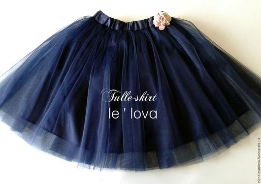 Одежда для девочек, ручной работы. Ярмарка Мастеров - ручная работа. Купить Детская юбка-пачка из фатина цвет Полночный синий. Handmade.